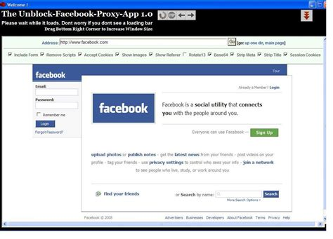Three Free Web Proxy Sites For Facebook To Unblock