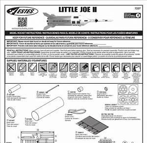 Model Rocket Building  New Estes Little Joe Instructions