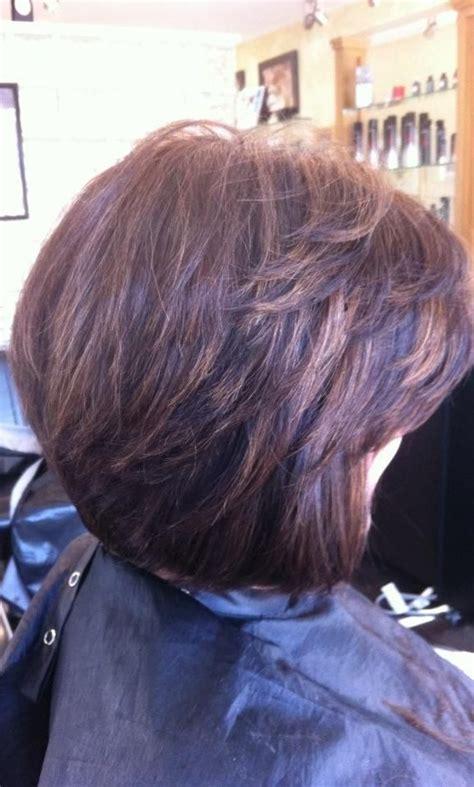 short layered bob haircuts  side swept bangs