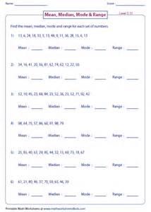 worksheet on median mode median mode and range worksheets
