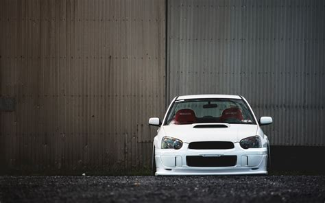 subaru white car subaru impreza wrx sti tuning white car wallpaper
