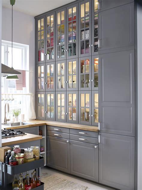 meuble haut cuisine porte coulissante cuisines ikea metod finition bodbyn gris ikeaddict