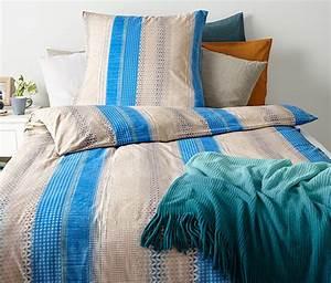 Bettwäsche Blau Weiß Gestreift : jersey bettw sche normalgr e blau gestreift online bestellen bei tchibo 317880 ~ Watch28wear.com Haus und Dekorationen