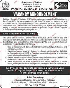 Pakistan Bureau of Statistics Government of Pakistan Jobs ...