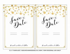 modern diy save the date free printable With free email save the date templates