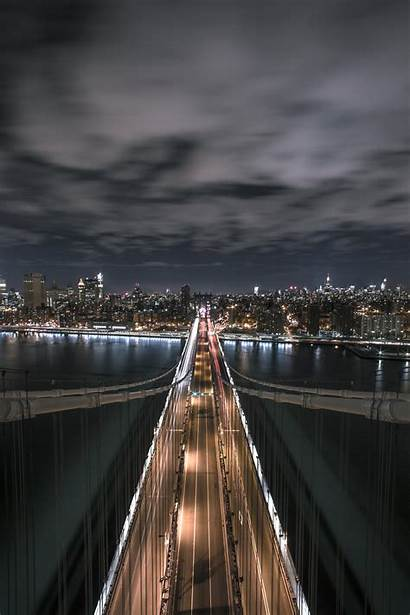 4k Portrait Wallpapers Night Bridge 16x9 Cloudy