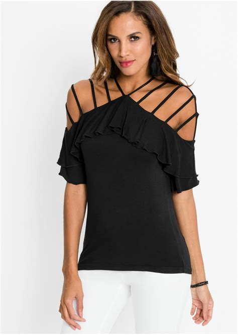 cold shoulder shirt zwart dames bodyflirt boutique bonprixnl