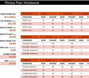 Ledger Template Fitness Plan Workbook My Excel Templates