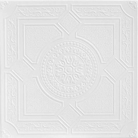 Styrofoam Ceiling Tiles Home Depot by A La Maison Ceilings Kensington Gardens 1 6 Ft X 1 6 Ft