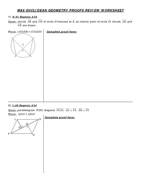 6 Best Images Of Circle Proofs Worksheet  Circle Theorems Worksheet And Answers, Geometry