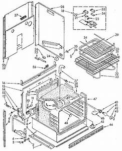 Electric Oven Diagram  U0026 Parts List For Model 6654438911