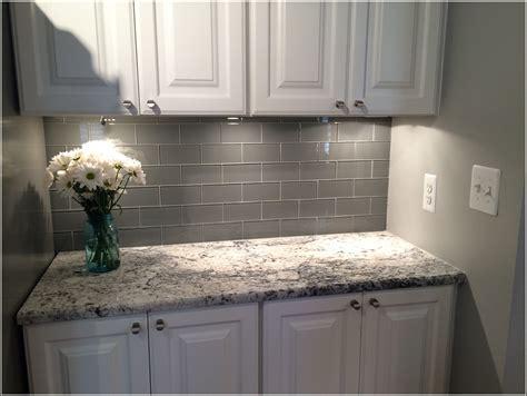 subway tile in kitchen backsplash grey subway tile backsplash tiles home design ideas