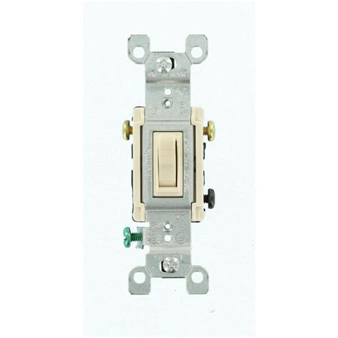 Leviton Amp Way Toggle Switch Light Almond Pack