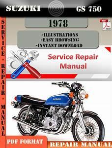 Suzuki Gs 750 1978 Digital Factory Service Repair Manual