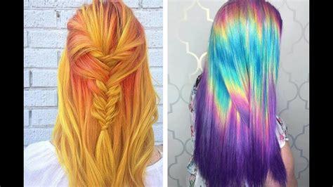 couleur cheveux mi transformation couleur cheveux mi tuto half bun coiffure tendance