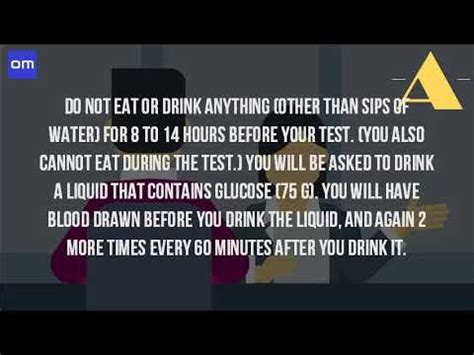 drink water  fasting   blood glucose test