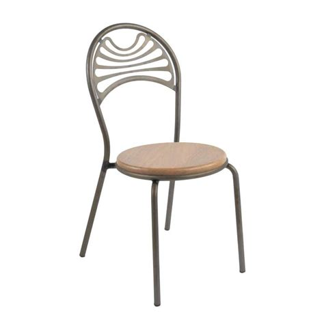 chaise métal industriel chaise style industriel en métal cabaret 4 pieds