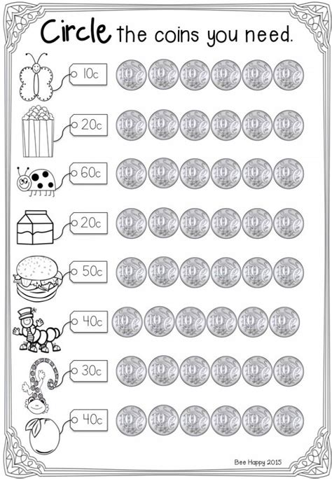 money worksheets money math worksheets