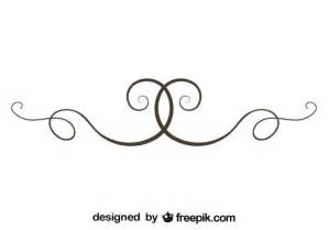 Simple Divider Vector Swirls