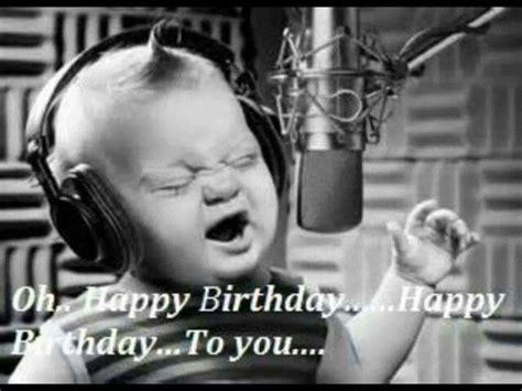 baby singing happy birthday  microphone singing