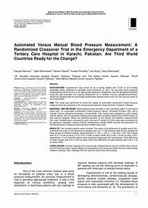 Pdf  Automated Versus Manual Blood Pressure Measurement