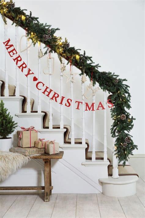 christmas banister christmas ideas pinterest