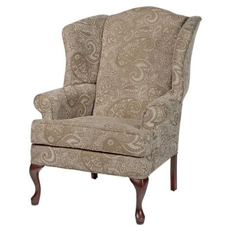 paisley wingback chair cherry dcg stores