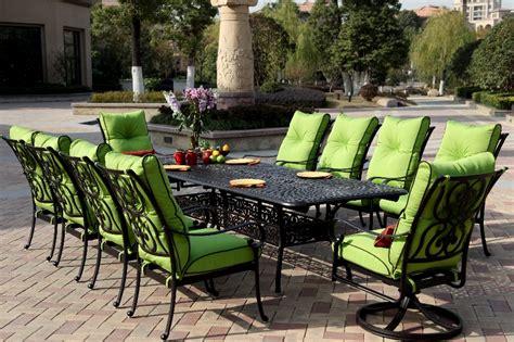 patio furniture dining set cast aluminum   extension