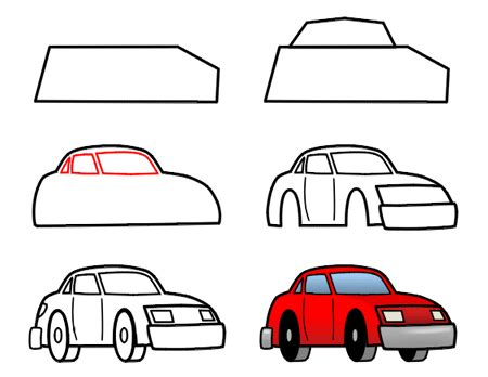 cartoon car drawing vector illustration cartoon white background auto