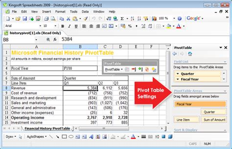 excel spreadsheet pivot table pivot table function in kingsoft spreadsheets is an