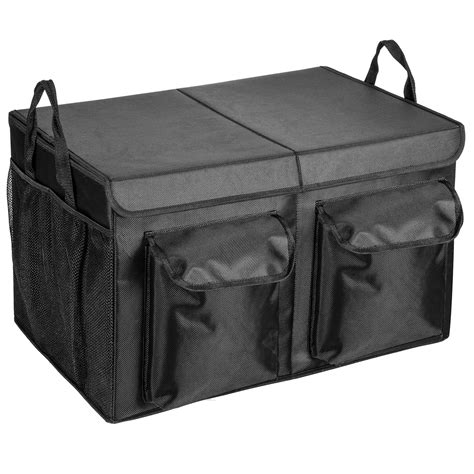 cargo trunk organizer  lid maidmax collapsible trunk