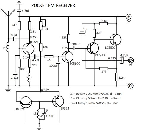 Two Transistor Radio Receiver Circuit