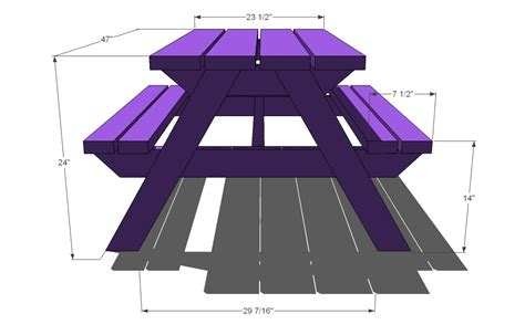 Picnic Bench Dimensions by White Build A Bigger Kid S Picnic Table Diy Projects