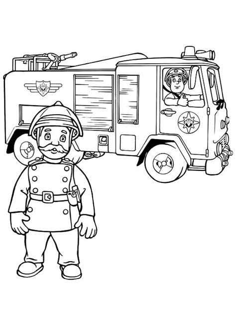 sam il pompiere capitano basil da stampare  colorare