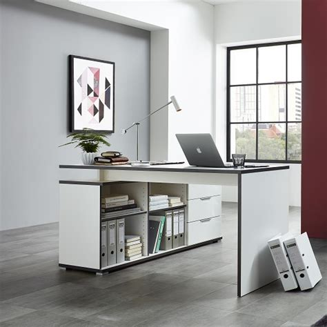white corner desk with storage alantra wooden corner computer desk in white with storage