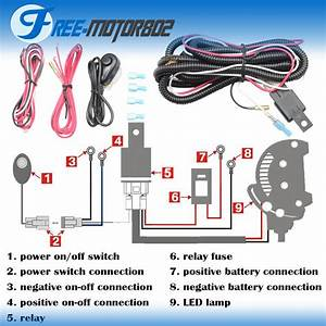 Universal Led Light Bar Fog Light Wiring Harness Kit 40a 12v Switch Relay Fuse 842961149288