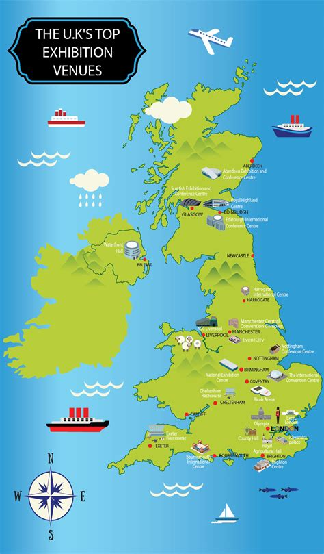 map   uks top exhibition venues infographix directory