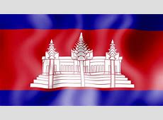 Flying Flag Of Cambodia LOOPED Stock Footage Video