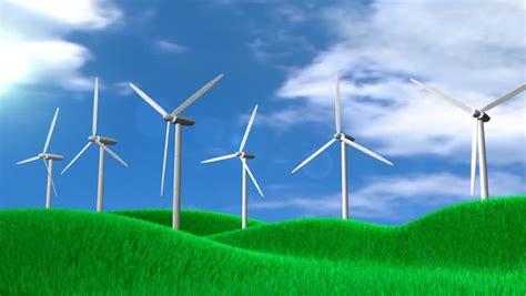 conceptual animation wind turbine field stock footage