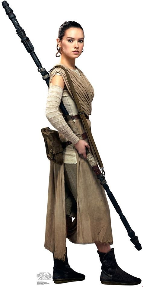 Rey And Bb8 Wallpaper Star Wars 7 The Force Awakens Rey Standup 6 39 Tall Buycostumes Com