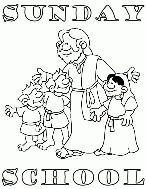 sunday school  printable coloring pages coloring home