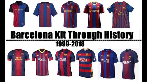 Barcelona Kit History Fc Barcelona Kits Evolution Throughout History 1999 2018