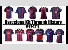 FC Barcelona Kits Evolution Throughout History 19992018