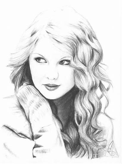 Swift Taylor Coloring Pages Drawings Celebrities Sketches