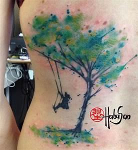 Baum Der Liebe : watercolour baum auf der h fte r cken vielen dank liebe claudia tattoo habusan wien ~ Eleganceandgraceweddings.com Haus und Dekorationen