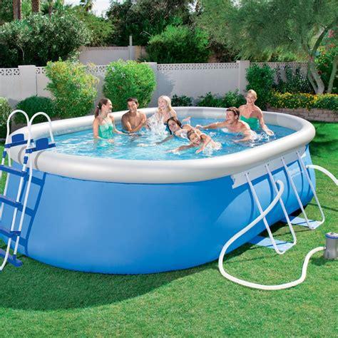 bestway pool oval bestway 16ft steel pro oval frame pool set 10 759l all