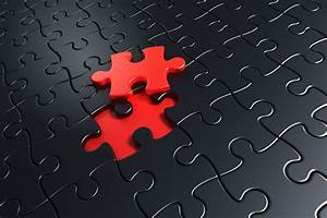 black red puzzle HD wallpaper