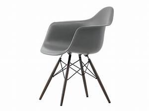 Buy The Vitra DAW Eames Plastic Armchair Dark Maple Base