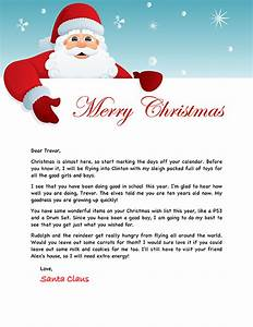 Santa letter example personalized letters from santa for Generic letter from santa