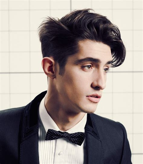 contemporary men s haircut with clean lines and expressive